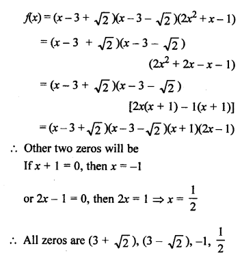RS Aggarwal Class 10 Solutions Chapter 2 Polynomials Ex 2B 22