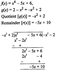 RS Aggarwal Class 10 Solutions Chapter 2 Polynomials Ex 2B 9