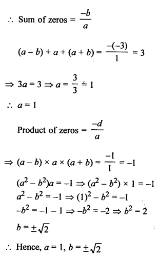 RS Aggarwal Class 10 Solutions Chapter 2 Polynomials Ex 2C 10