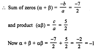 RS Aggarwal Class 10 Solutions Chapter 2 Polynomials Ex 2C 2