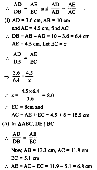 RS Aggarwal Class 10 Solutions Chapter 4 Triangles Ex 4A 1
