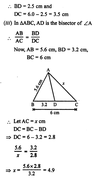 RS Aggarwal Class 10 Solutions Chapter 4 Triangles Ex 4A 11