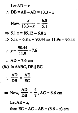 RS Aggarwal Class 10 Solutions Chapter 4 Triangles Ex 4A 2