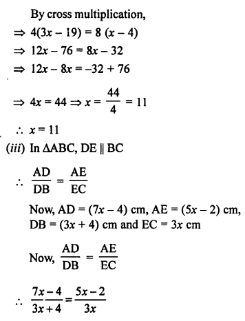 RS Aggarwal Class 10 Solutions Chapter 4 Triangles Ex 4A 5