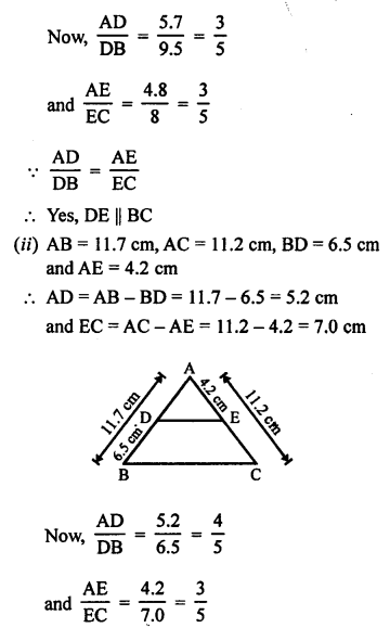 RS Aggarwal Class 10 Solutions Chapter 4 Triangles Ex 4A 6