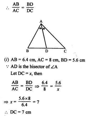 RS Aggarwal Class 10 Solutions Chapter 4 Triangles Ex 4A 9