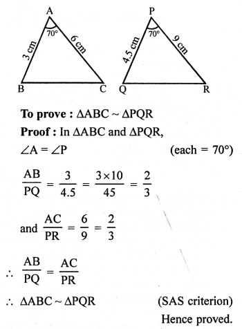RS Aggarwal Class 10 Solutions Chapter 4 Triangles Ex 4E 1
