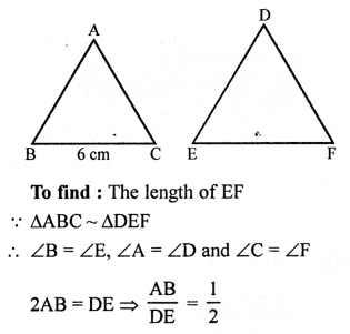 RS Aggarwal Class 10 Solutions Chapter 4 Triangles Ex 4E 2