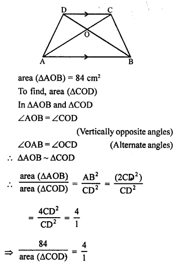 RS Aggarwal Class 10 Solutions Chapter 4 Triangles Test Yourself 12
