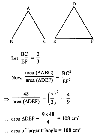 RS Aggarwal Class 10 Solutions Chapter 4 Triangles Test Yourself 14