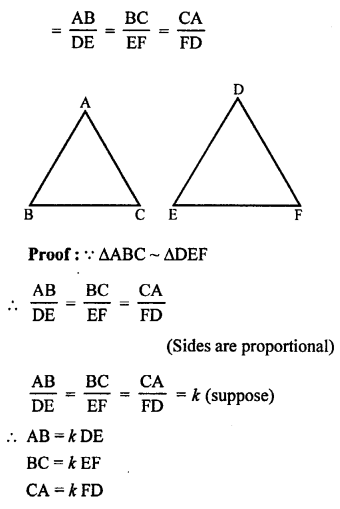 RS Aggarwal Class 10 Solutions Chapter 4 Triangles Test Yourself 22