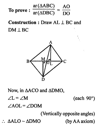 RS Aggarwal Class 10 Solutions Chapter 4 Triangles Test Yourself 24