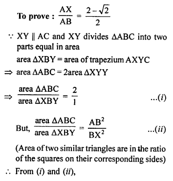 RS Aggarwal Class 10 Solutions Chapter 4 Triangles Test Yourself 27