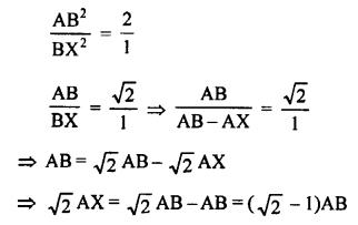 RS Aggarwal Class 10 Solutions Chapter 4 Triangles Test Yourself 28