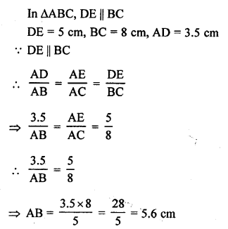 RS Aggarwal Class 10 Solutions Chapter 4 Triangles Test Yourself 3