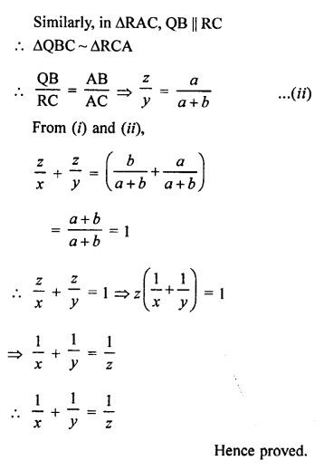 RS Aggarwal Class 10 Solutions Chapter 4 Triangles Test Yourself 32
