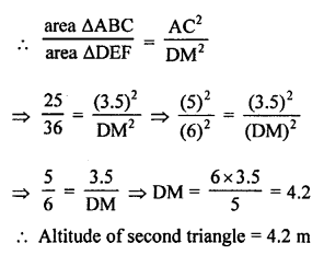 RS Aggarwal Class 10 Solutions Chapter 4 Triangles Test Yourself 5