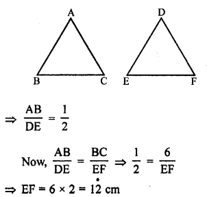 RS Aggarwal Class 10 Solutions Chapter 4 Triangles Test Yourself 6