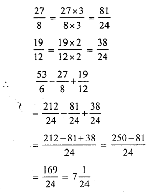 RS Aggarwal Class 7 Solutions Chapter 2 Fractions Ex 2A 22