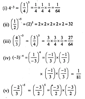 RS Aggarwal Class 8 Solutions Chapter 2 Exponents Ex 2A 1