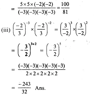 RS Aggarwal Class 8 Solutions Chapter 2 Exponents Ex 2A Q3.2