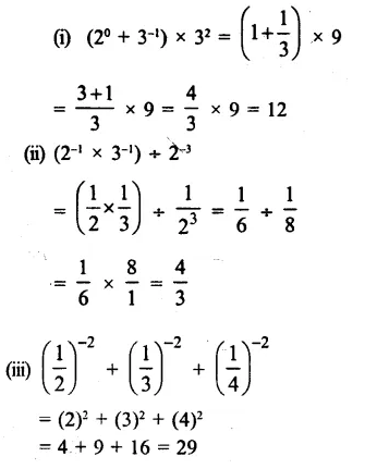 RS Aggarwal Class 8 Solutions Chapter 2 Exponents Ex 2A Q8.1