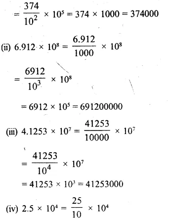 RS Aggarwal Class 8 Solutions Chapter 2 Exponents Ex 2B Q2.1