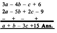 RS Aggarwal Class 8 Solutions Chapter 6 Operations on Algebraic Expressions Ex 6A 13.1
