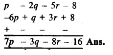 RS Aggarwal Class 8 Solutions Chapter 6 Operations on Algebraic Expressions Ex 6A 14.1