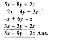 RS Aggarwal Class 8 Solutions Chapter 6 Operations on Algebraic Expressions Ex 6A 4.1