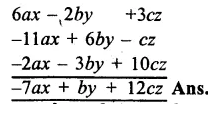 RS Aggarwal Class 8 Solutions Chapter 6 Operations on Algebraic Expressions Ex 6A 5.1
