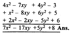 RS Aggarwal Class 8 Solutions Chapter 6 Operations on Algebraic Expressions Ex 6A 8.1