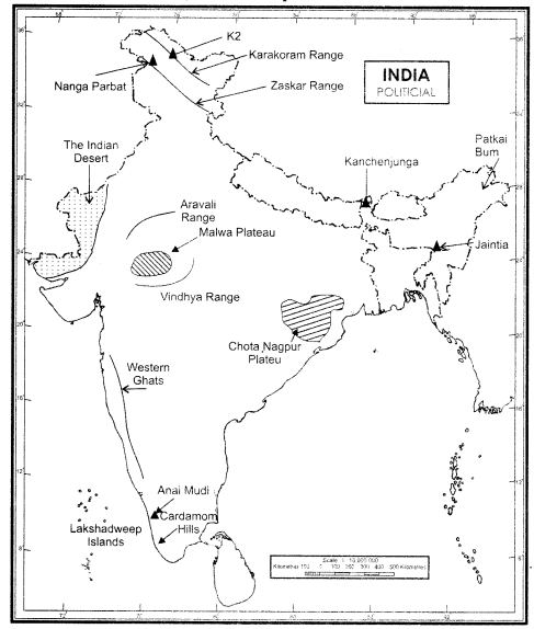 NCERT Solutions for Class 9 Social Science Geography Chapter 2 Physical Features of India img-1