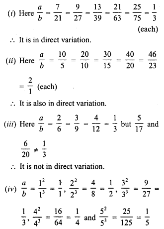 RD Sharma Class 8 Solutions Chapter 10 Direct and Inverse variationsEx 10.1 2