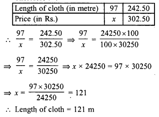 RD Sharma Class 8 Solutions Chapter 10 Direct and Inverse variationsEx 10.1 22