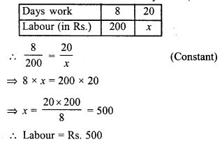 RD Sharma Class 8 Solutions Chapter 10 Direct and Inverse variationsEx 10.1 25