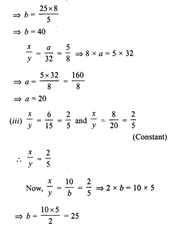 RD Sharma Class 8 Solutions Chapter 10 Direct and Inverse variationsEx 10.1 6