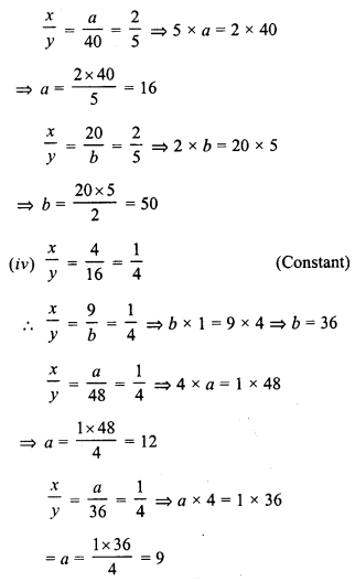 RD Sharma Class 8 Solutions Chapter 10 Direct and Inverse variationsEx 10.1 7