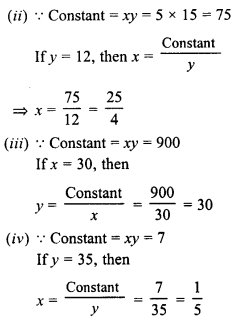 RD Sharma Class 8 Solutions Chapter 10 Direct and Inverse variationsEx 10.2 32