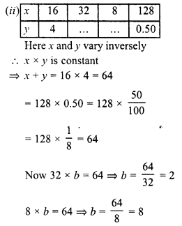 RD Sharma Class 8 Solutions Chapter 10 Direct and Inverse variationsEx 10.2 8