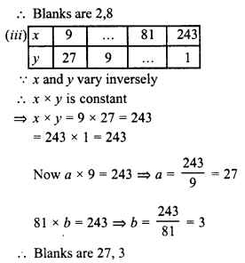 RD Sharma Class 8 Solutions Chapter 10 Direct and Inverse variationsEx 10.2 9
