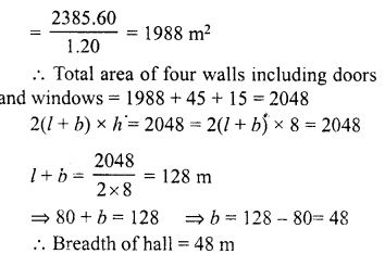 RD Sharma Class 8 Solutions Chapter 21 Mensuration II Ex 21.3 4