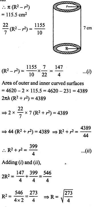 RD Sharma Class 8 Solutions Chapter 22 Mensuration III Ex 22.1 19