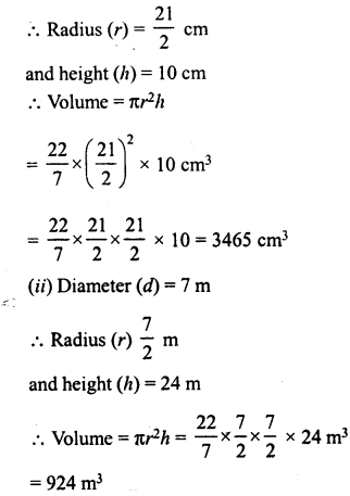 RD Sharma Class 8 Solutions Chapter 22 Mensuration III Ex 22.2 2