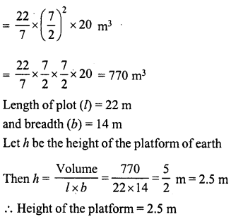 RD Sharma Class 8 Solutions Chapter 22 Mensuration III Ex 22.2 25