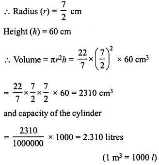 RD Sharma Class 8 Solutions Chapter 22 Mensuration III Ex 22.2 8