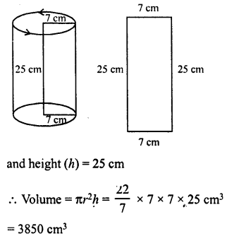 RD Sharma Class 8 Solutions Chapter 22 Mensuration III Ex 22.2 9