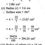 RD Sharma Class 9 Solutions Chapter 21 Surface Areas and Volume of a Sphere Ex 21.1 1.1
