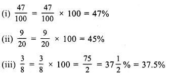 RS Aggarwal Class 7 Solutions Chapter 10 Percentage Ex 10A 1