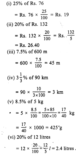 RS Aggarwal Class 7 Solutions Chapter 10 Percentage Ex 10A 11